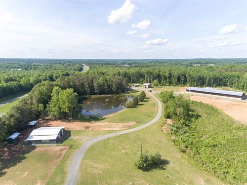 41 Acre Horse Farm & Log Home : Siler City : Chatham County : North Carolina