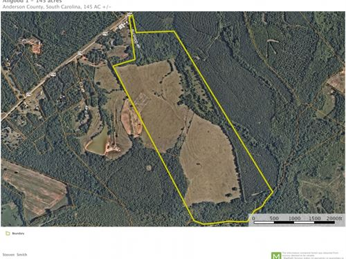 145 Acres, Rare Development Oppo : Pendleton : Anderson County : South Carolina