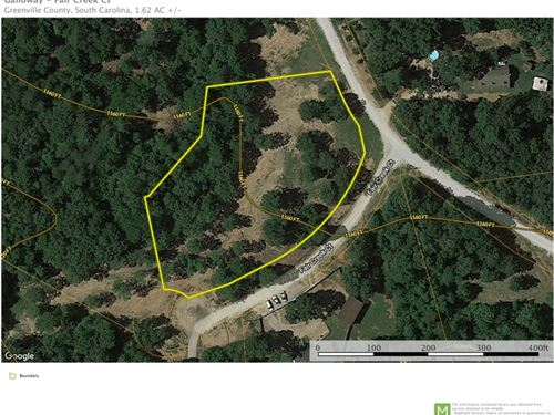 1.62 Acres, Beautiful Lot In Rur : Cleveland : Greenville County : South Carolina