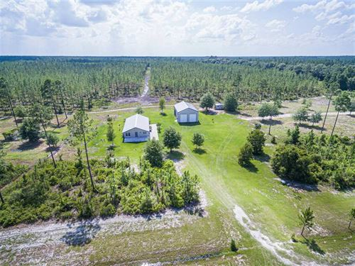 Home on 75 Acres of Timberland : Folkston : Charlton County : Georgia