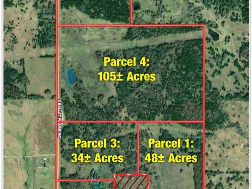 Muli-Parcel Land Auction : Tishomingo : Johnston County : Oklahoma
