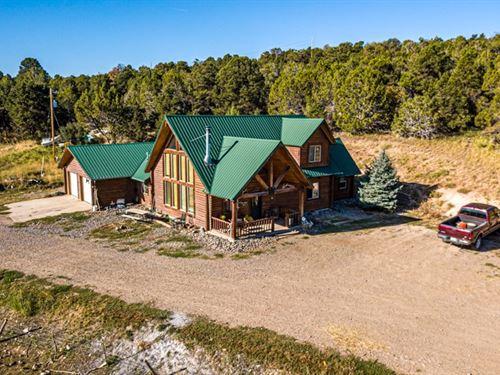 Log Home on 40 Acres : Cedaredge : Delta County : Colorado