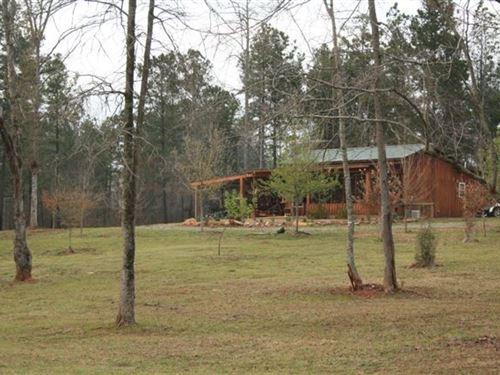 Timber, Pond And Cabin : Haddock : Jones County : Georgia