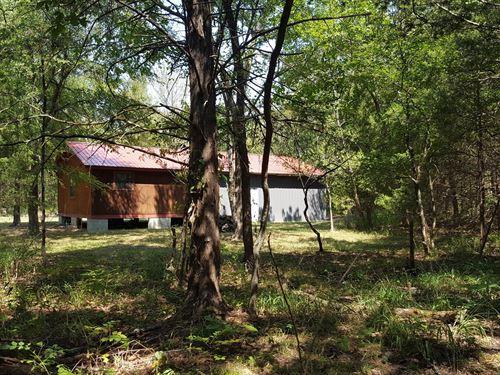 Cabin For Sale, Southeast Oklahoma : Tuskahoma : Pushmataha County : Oklahoma