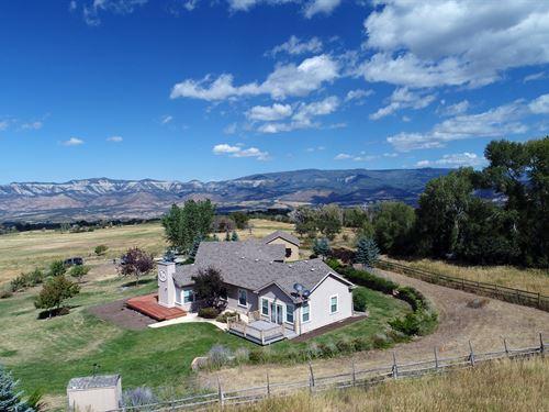 Home, Irrigated Acreage Shop : Molina : Mesa County : Colorado