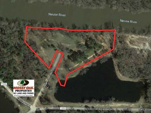 4.5 Acres of Riverfront Land : Kinston : Lenoir County : North Carolina