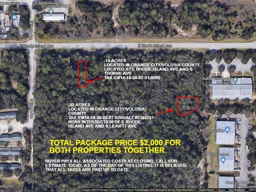 Orange City, Fl, 2 Lots For 1 : Orange City : Volusia County : Florida