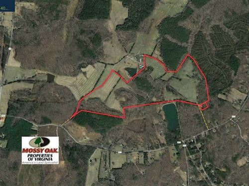 140.6 Acres of Residential Farm : Cartersville : Cumberland County : Virginia