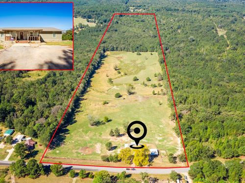 49 Acre Ranch, Country Home, Pond : Gilmer : Upshur County : Texas