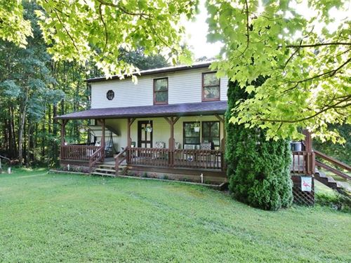 Home With 96 Acres : Frazeysburg : Muskingum County : Ohio