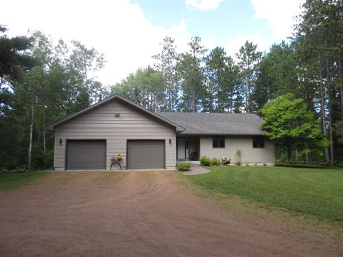 181396, Quality Built Home On 7+Ac : Pine Lake : Oneida County : Wisconsin