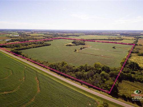 160 Acres to Harvest And Hunt : Elsmore : Allen County : Kansas