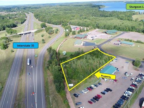 Commercial Lot Frontage Interstate : Sturgeon Lake : Pine County : Minnesota