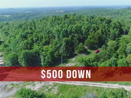 5.7 Acres With Electric And Views : Ava : Douglas County : Missouri