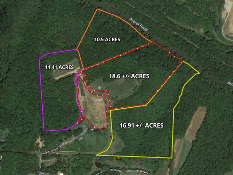 Ararat NC Land For Sale : Ararat : Surry County : North Carolina