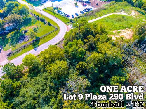 1 Acre in Harris County : Tomball : Harris County : Texas