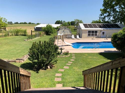 Large Home, Pool Land, Ava MO : Ava : Douglas County : Missouri