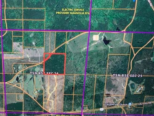 40 Acres Hunting Land Franklin : Smithdale : Franklin County : Mississippi