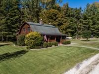 Log Home, Shed, Hunting Lodge 5 Ac : Hardin : Calhoun County : Illinois