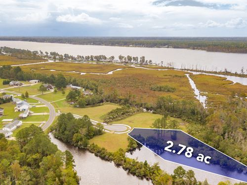 Beautiful Waterfront Lot : Chocowinity : Beaufort County : North Carolina