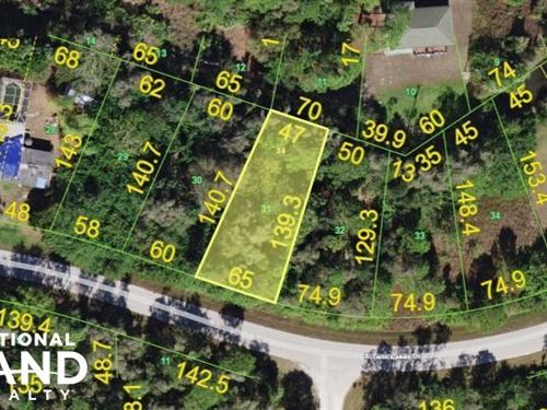 Nice Residential Lot in Punta Gorda : Lehigh Acres : Lee County : Florida