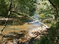 3 Miles Of Crooked Creek Runs Thru : Lineville : Clay County : Alabama