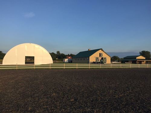 Horse Farm in New York : Lansing : Tompkins County : New York