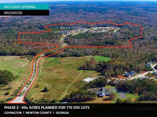 60+ Acres Wildwood : Covington : Newton County : Georgia