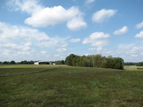 Fenced Cross Fenced Pasture Barn TN : Sardis : Hardin County : Tennessee
