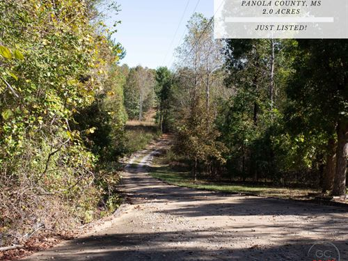 2.00 Acres In Panola County, MS : Batesville : Panola County : Mississippi