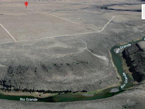 Land Next To The Rio Grande River : Jaroso : Costilla County : Colorado