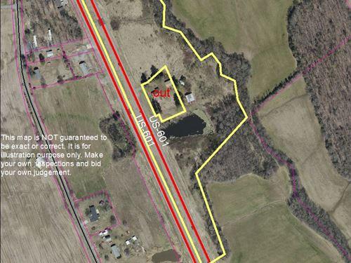 10+/- Acres Located On Highway 601 : Monroe : Union County : North Carolina