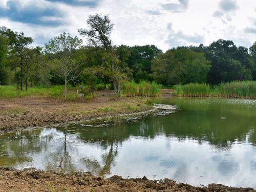 10 Acres South Of Austin W/Pond : Redrock : Bastrop County : Texas