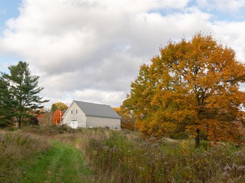 Maine Riverfront Barn Farm Timber : Dover-Foxcroft : Piscataquis County : Maine