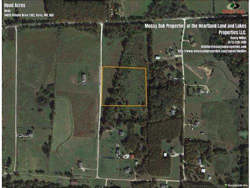 Rural Rolla 6.2 Acre Build Site : Rolla : Phelps County : Missouri