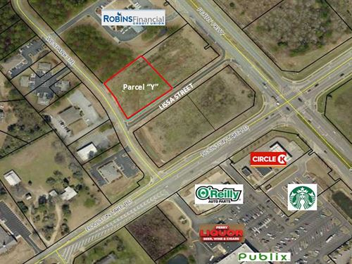Prime Commercial Lot on Wespark Dr : Perry : Houston County : Georgia