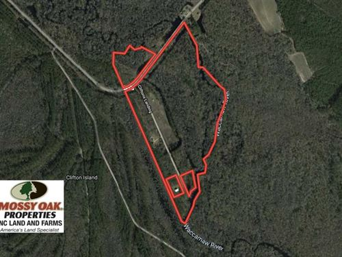 53 Acres of Recreational Land : Whiteville : Columbus County : North Carolina