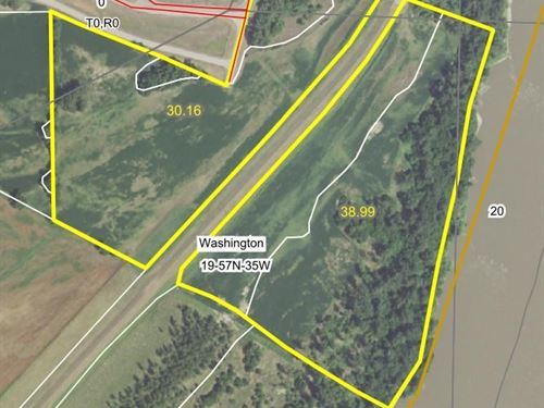 Farm Joining Conservation Area : Elwood : Doniphan County : Kansas