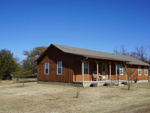 80 Acres Country Home / Farm : Cushing : Lincoln County : Oklahoma