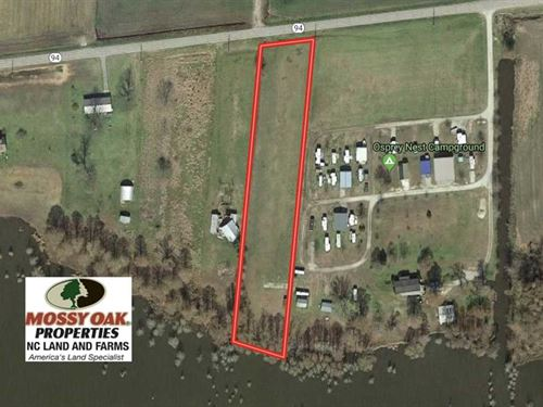 Reduced, 1.92 Acre Lake Front Lot : Fairfield : Hyde County : North Carolina
