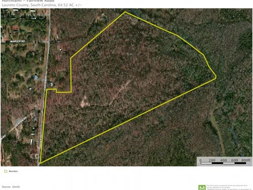 64.52 Acres, Great Recreational : Gray Court : Laurens County : South Carolina