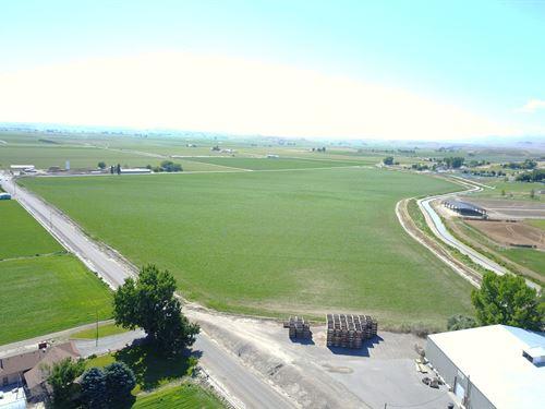 Irrigated Farmland Near Snake River : Marsing : Owyhee County : Idaho