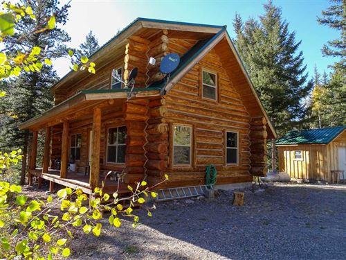 Conejos Log Cabin : Antonito : Conejos County : Colorado