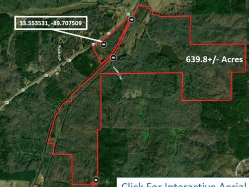 639.8 Acres In Montgomery County : Winona : Montgomery County : Mississippi