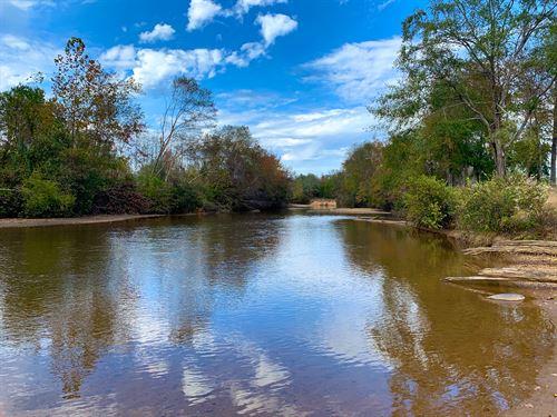Beautiful Mulberry Creek Property : Plantersville : Autauga County : Alabama