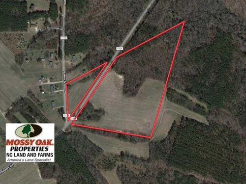 25 Acres of Farm And Timber Land : Scotland Neck : Halifax County : North Carolina
