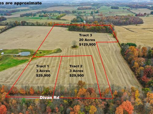Divan Rd Tracts 1 & 2, 3 Acres : Martinsburg : Knox County : Ohio