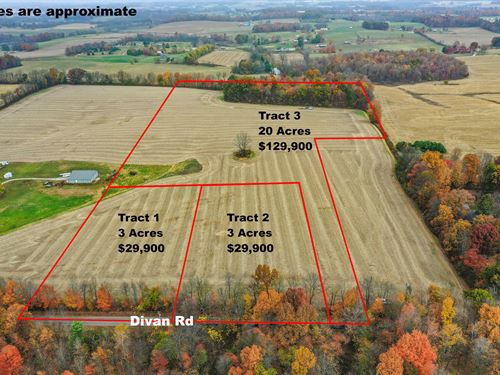 Divan Rd Tract 3, 20 Acres : Martinsburg : Knox County : Ohio