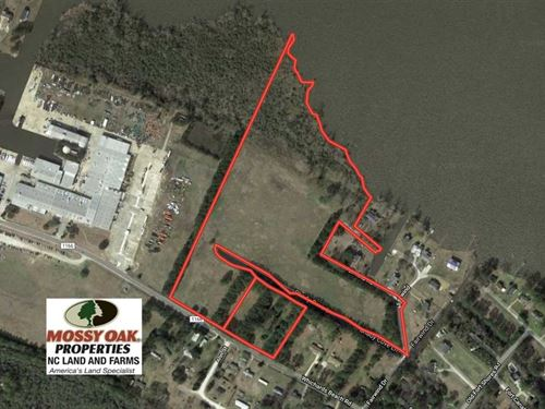 Reduced, 27 Acres of Waterfront : Chocowinity : Beaufort County : North Carolina