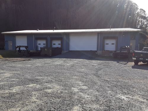 9480 Sq, Ft, Warehouse on 3.5 Acres : Independence : Grayson County : Virginia